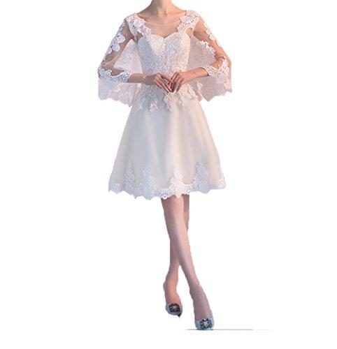 Knielang Promkleider Abendkleider Spitze Stola mia mit A Braut Cocktailkleider Kurzes Linie La Rock Partykleider 0xqUwIEq4