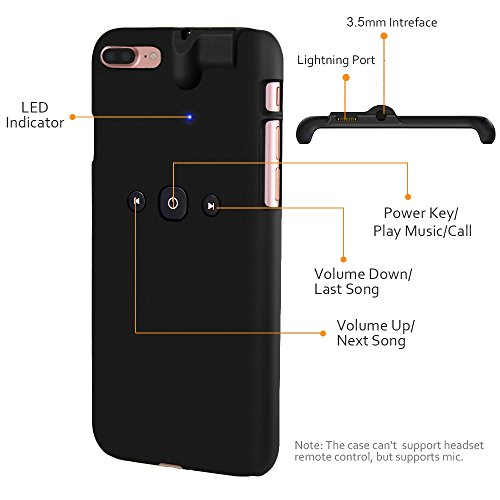 best authentic a97be d092a Amazon.com: iPhone 7 Plus Case Built-in 3.5mm Headphone Jack Adapter ...