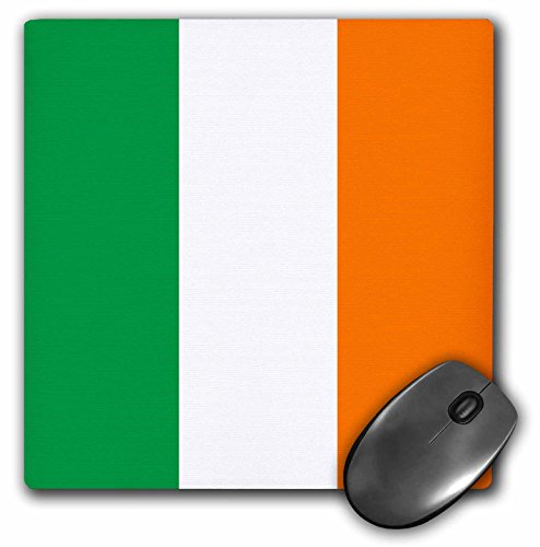 3dRose LLC 8 x 8 x 0.25 Inches Mouse Pad, Flag of Ireland Irish Green White Orange Vertical Stripes United Kingdom UK World Country Souvenir (mp_158340_1)