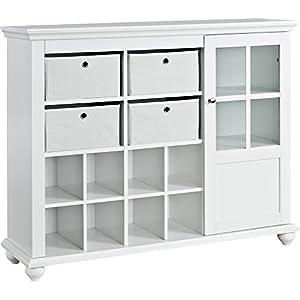 Amazon.com: Ameriwood Home Reese Park Storage Cabinet, White ...