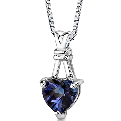 Revoni Alexandrite Pendant Necklace Sterling Silver Ribbon Style