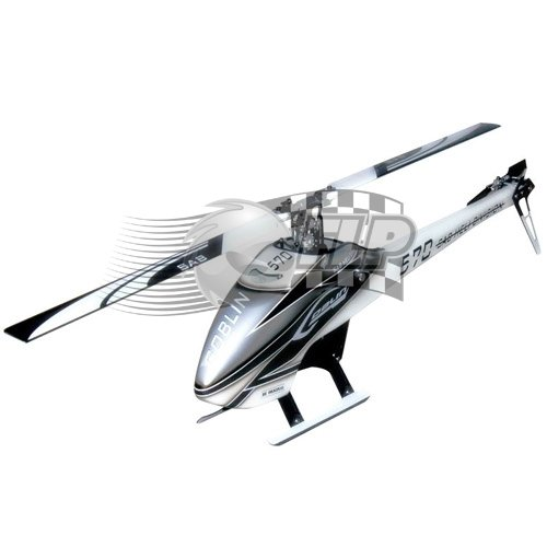 SAB Goblin 570 Flybarless Electric Helicopter Grey/White Kit (Electric Flybarless Helicopter)