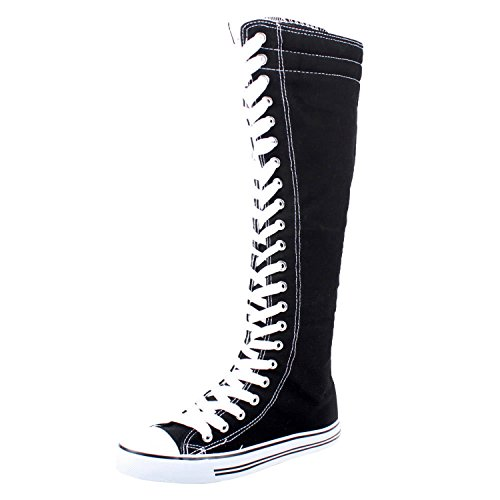 f41fb26beda1 Women s Tall Canvas Lace Up Knee High Sneakers · via amazon.com