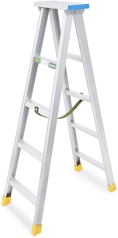 Escaleras Escalera plegable de aluminio de 5 pasos, escalera portátil, escalera de extensión, peso ligero de 3,9 kg, antideslizante, carga máxima de 150 kg: Amazon.es: Bricolaje y herramientas