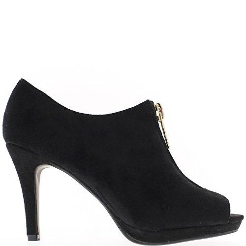 Stiefel öffnen schwarz 10,5-cm-Absatz