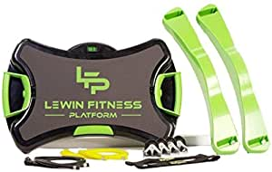 Lewin Fitness Platform -... was $179 Now $149 .30 Level Resistance, Set of Interchangeable Stretch Resistance Bands, Allows to Perform More Than 150 Exercises, USB Workouts Included.