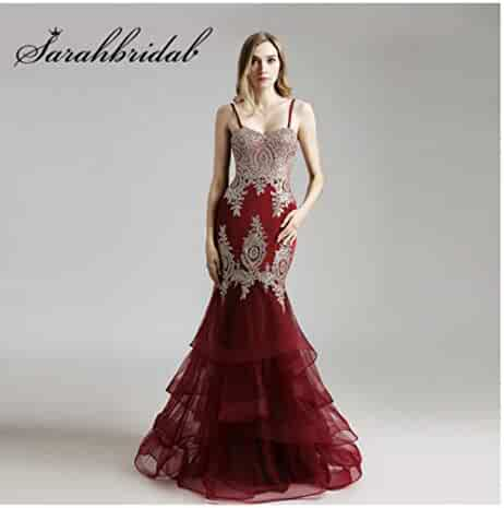 0f9cb9c0 PROMNOVAS Blush Pink Evening Dresses with Sweetheart Long Mermaid  Embroidery Beaded Navy Tulle Ruffles Prom Party