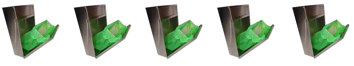 S.A.C TD9200 22 Gauge Steel Sanitary Napkin/Tampon Medium Disposal Bin, 12'' Length x 9-1/2'' Width x 4'' Height, Stainless Steel (5-(Pack))