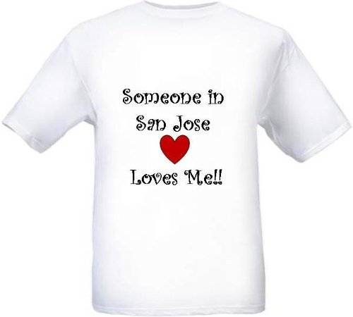 SOMEONE IN SAN JOSE LOVES ME - City-series - White T-shirt - size X-Small -