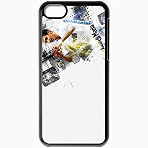 Personalized iPhone 5C Cell phone Case/Cover Skin Angel di maria by eaglelegend drytvq Black