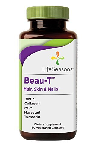 Life Seasons - Beau-T - Hair, Nail, and Skin Supplement - Maintain Healthy Hair and Nail Growth - Supports Clear Skin - Nail Strengthener - Contains Biotin, Collagen, Turmeric, (90 Capsules)