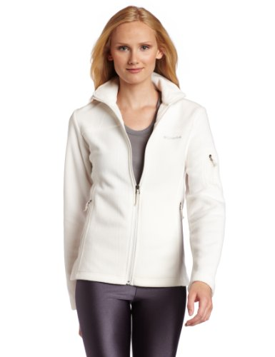 Columbia Women's Fast Trek II Full Zip Fleece Jacket, Sea Salt, X-Large