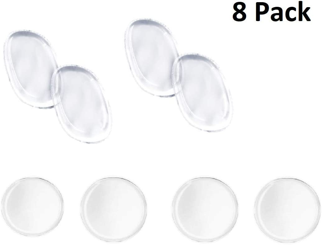 8 Pack Beauty Gal's Original Clear Silisponge Silicone Makeup Blender, Sponge, Applicator, Gel Foundation Makeup and Puff BB. Cosmetic Beauty Tools Blender, 4 Round 4 Oval