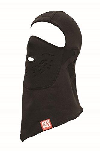 Airhole Balaclava Neo Adult Neoprene Snow Snowmobile Face Mask, Black, Medium/Large