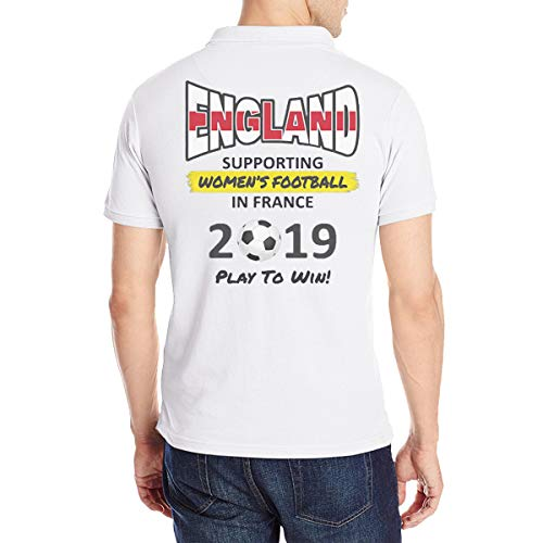 Women Soccer England Team France 2019 World Tournament Men's Polo Shirt