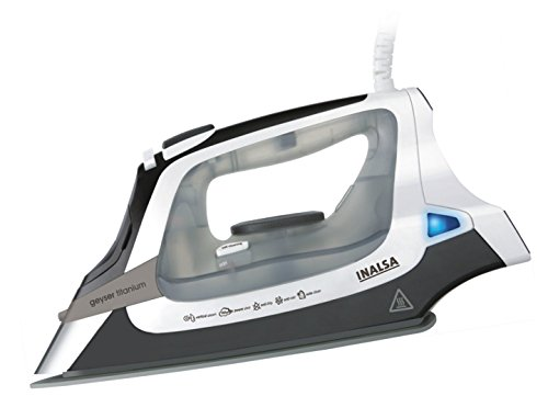Inalsa Titanium 2000-Watt Steam Iron with 2 year Warranty (White and Grey)