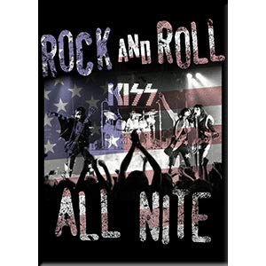 Rock And Roll Artwork - C&D Visionary KISS - Rock and Roll All Nite, Licensed Original Artwork, Fridge Magnet, 2.5