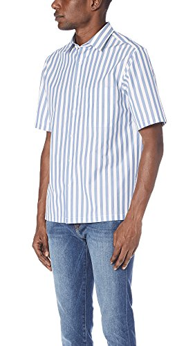 Theory Men's Brunner Lounge Stripe Shirt, Tidal, Medium by Theory (Image #3)