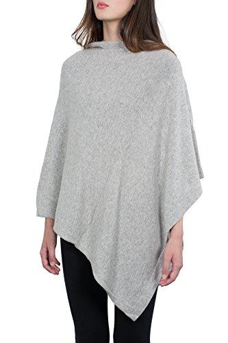 Kemailù - Poncho - para mujer gris luminoso (ral 7035)