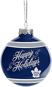 Toronto Maple Leafs NHL Happy Holidays Glass Ball Ornament