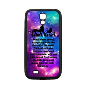 LeonardCustom- The Lion King Hakuna Matata Hard Rubber Phone Case for Samsung Galaxy S4 IV i9500 -LCS4U248