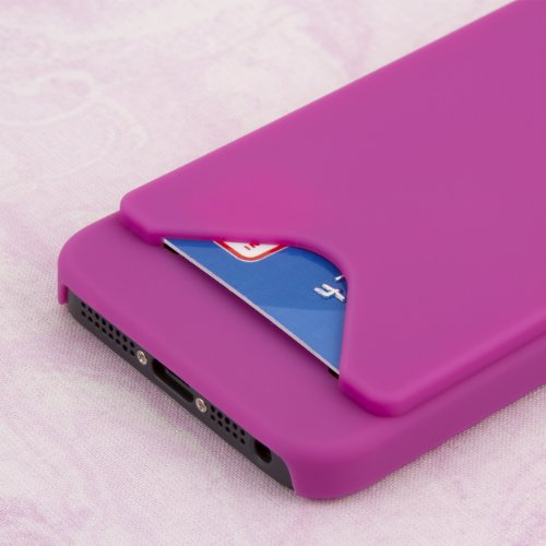MPERO Sammlung Wallet Credit Autod Hot Pink Rosa Case Tasche Hülle for Apple iPhone 5