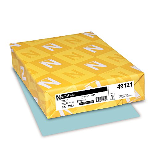 Index Lb 90 Cardstock - Wausau Exact Index Cardstock, 90 lb, 8.5 x 11 Inches, Pastel Blue, 250 Sheets (49121)