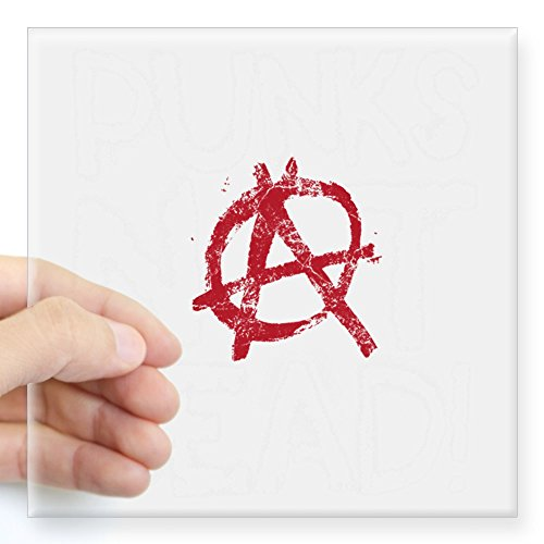 Cafepress   Punks Not Dead Square Sticker 3  X 3    Square Bumper Sticker Car Decal  3 X3   Small  Or 5 X5   Large