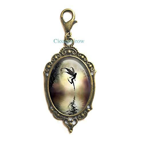 Cioaqpyirow Flower Fairy Lobster Clasp,Faerie,Fairy Princess Natural Jewelry,My Bridesmaid,Bridesmaid Proposal,Friend Zipper Pull,HO0E362]()