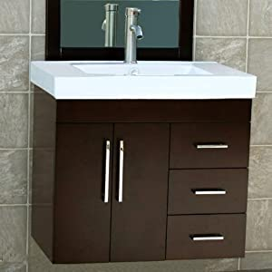 wall mount bathroom sink with cabinet 30 quot bathroom vanity wall mount solid wood cabinet ceramic 25830