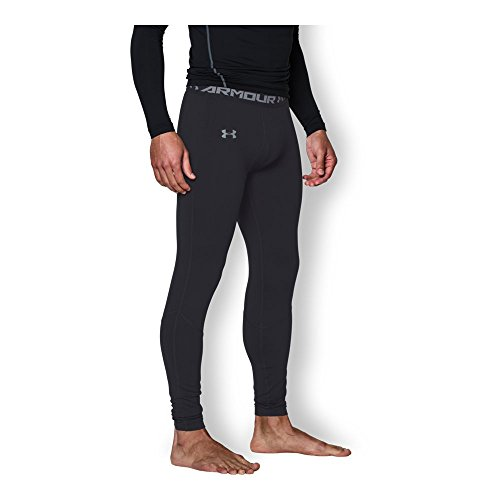 Under Armour Men's ColdGear Infrared Fitted Leggings, Black/Steel, X-Large