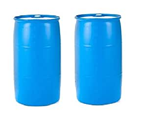 Emergency Essentials Water Barrel - 55 Gallon Drum, Pack of 2