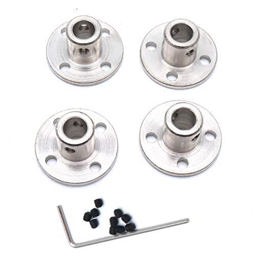 (Sydien 6mm Rigid Flange Shaft Coupling Motor Guide Shaft Coupler Connector 4 Pcs)