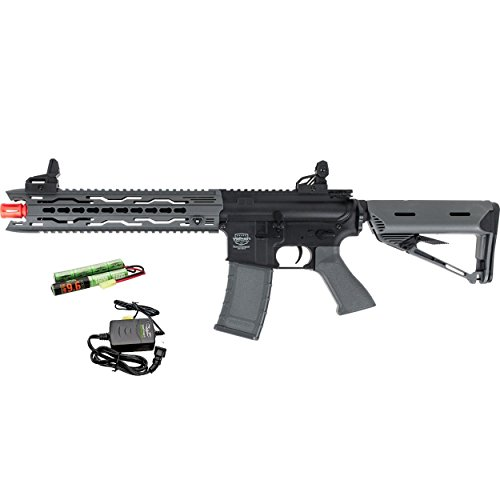Airsoft Flash Hider (Valken Battle Machine AEG V2.0 TRG-M (GRY) - Battery and Charger Combo)