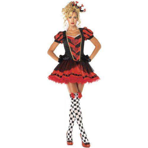 [Leg Avenue Women's Dark Heart Queen Costume, Red/Black, Small] (Dark Heart Queen Halloween Costumes)