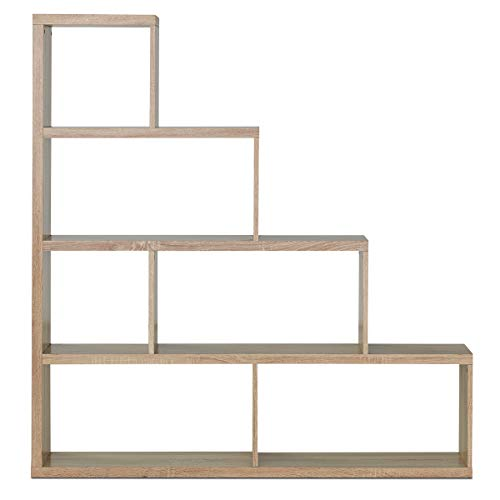 "Tangkula 4-Shelf Ladder Corner Bookshelf, Modern & Simple Style Storage Bookcase, 61""L x 11""W x 64""H, 4-Layer Ample Storage Space for Home Furniture, Wooden Storage Bookcase (Natural)"