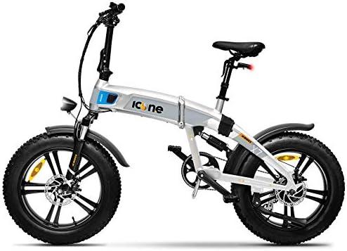 giordanoshop Icon.e - Bicicleta eléctrica Plegable iCross-X7 250 W Stardust Silver: Amazon.es: Electrónica