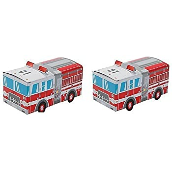 Fire Truck Party Favor Treat Boxes (2 Pack)