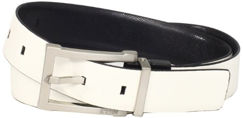 Kenneth Cole Designer Belt (Kenneth Cole REACTION Men's Logo Buckle)