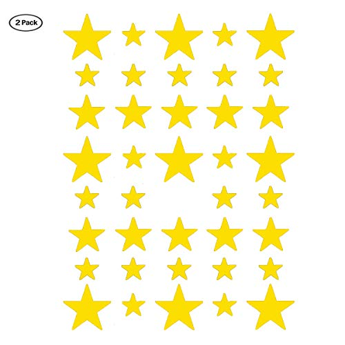 Stars Wall Decal,2 Sizes Yellow Stars Wall Sticker(78 Stars) Easy to Peel and Stick for Room,Kids Room Decoration/Ins hot(Yellow Star)]()