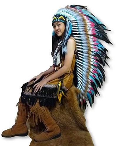 Authentic Western Indian Headdress - Feather Headdress   Native American Indian
