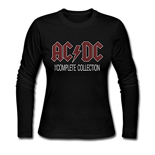 HOORIE-Womens-ACDC-Logo-Tshirts-Long-Sleeve-XX-Large