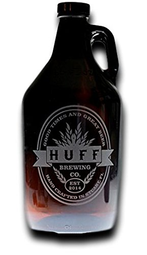 Personalized Engraved Beer Growler with Double Oval Middle Banner | Custom Gifts For Him