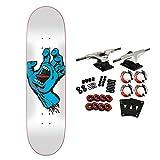 Santa Cruz Skateboard Complete Screaming Hand Taper Tip White 8.0'