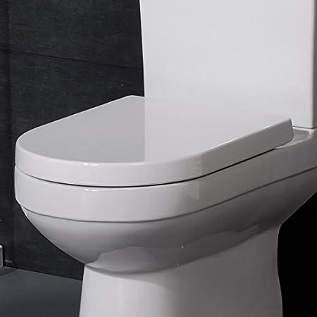 large d shaped toilet seat. Toilet Seat Soft Close Quick Release Top Fix D Shape White  Durable Long Lasting Adjustable