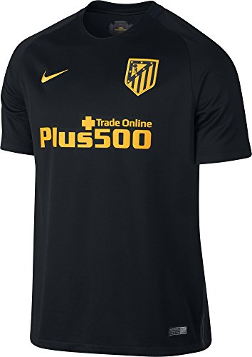 Nike Mens 16/17 Atletico Madrid Away Jersey Small (Black/Gold) (Atletico Madrid Soccer Jersey)