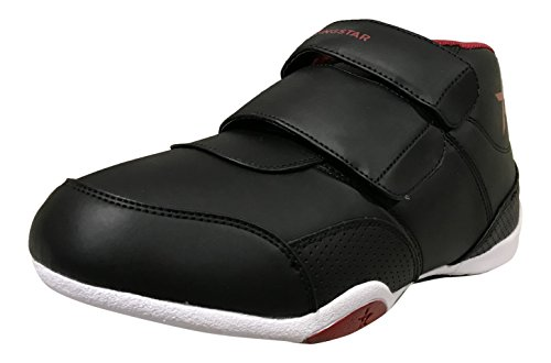 Martial Arts Sparring Shoes - Ringstar Unisex Fight Pro V2 Martial Arts Shoes, Black/Red, Youth 2