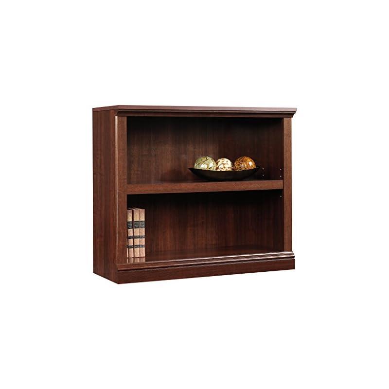 sauder-2-shelf-bookcase-select-cherry