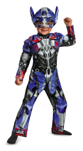 Disguise Hasbro Transformers Age of Extinction Movie Optimus Prime Toddler Muscle Costume, Small/2T ()