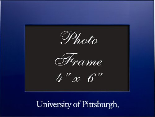 LXG Pitt, University of Pittsburgh - 4x6 Brushed Metal Picture Frame - Blue